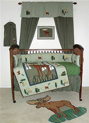 Cabin Crib Bedding Moose Lodge Crib Bedding Sets Cabin Place