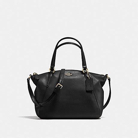 Ready Coach Kelsey Small Black mini kelsey satchel in pebble leather f57563 imitation gold black coach handbags