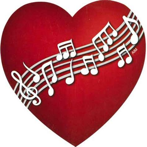 MUSIC GIFTS: Notes: Music Notes Heart Magnet