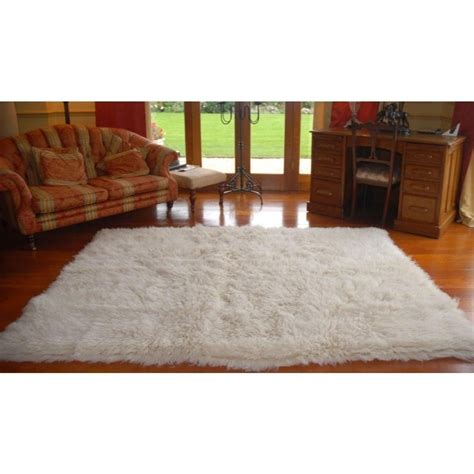 real rugs real rug white rectangular flokati rug leader