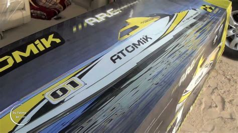 atomik 58 rc boat unboxing rc the new atomik a r c 58 rtr electric boat