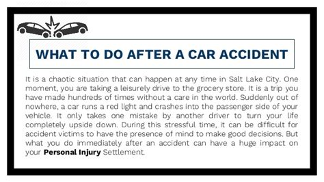 what do salt ls do what to do after a car accident salt lake city