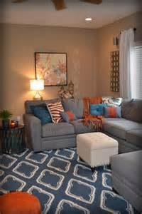 casual family room ideas casual orange blue and gray family room traditional