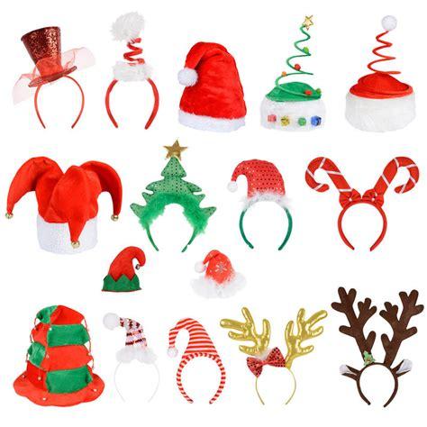 6 pack of christmas santa elf reindeer xmas hat headband
