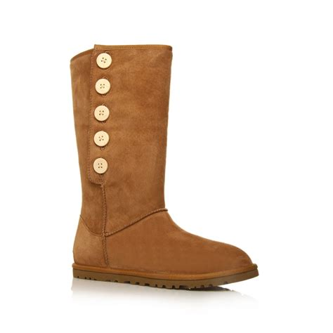 ugg lo pro suede boots in brown lyst