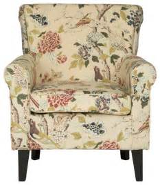 printed accent chairs hazina club chair green printed transitional
