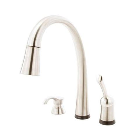 delta savile stainless 1 handle pull kitchen faucet delta pilar single handle pull sprayer kitchen faucet with soap dispenser in stainless