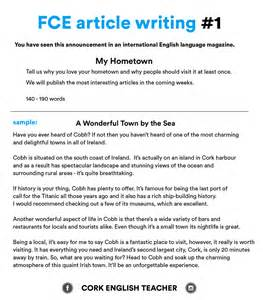 Writing An Essay Pdf by Fce Writing Sles And Essay Exles Myenglishteacher Eu