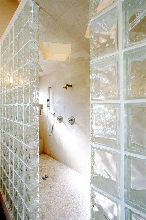 glass block bathroom wall roman shower stalls for your master bathroom