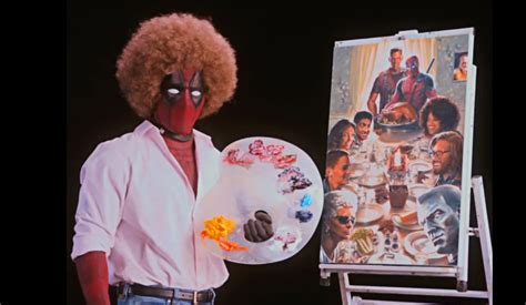 bob ross painting deadpool the new deadpool 2 teaser trailer delivers with a