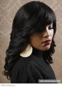 out hair styles for black with hair jewerly long flipped out black hair style