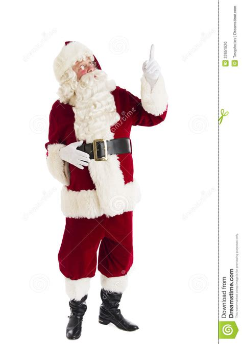 santa claus pointing up stock photo image 32651520