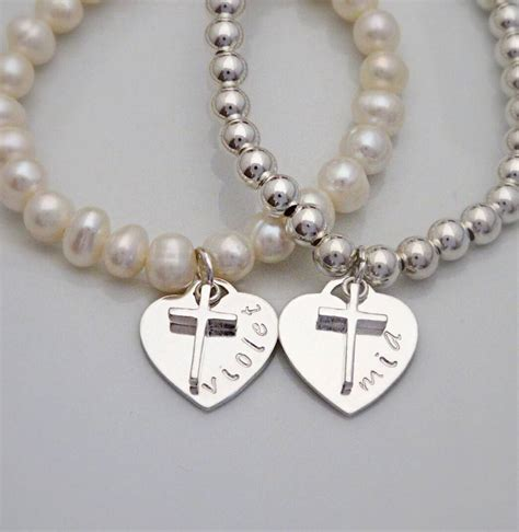 sterling silver christening bracelet by jones