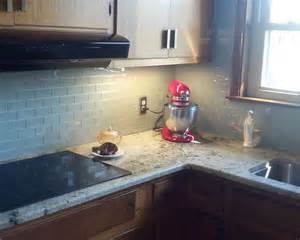 kitchen backsplash tile ideas subway glass hometalk glass subway tile kitchen backsplash idea