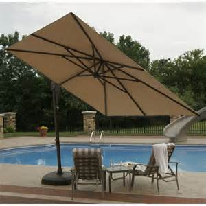 Best Cantilever Patio Umbrella 10 Square Cantilever Umbrella With Base Olefin Top Nu5020 So Cozydays