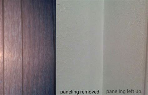covering paneling diy drywall wood panelling painting drywall walls