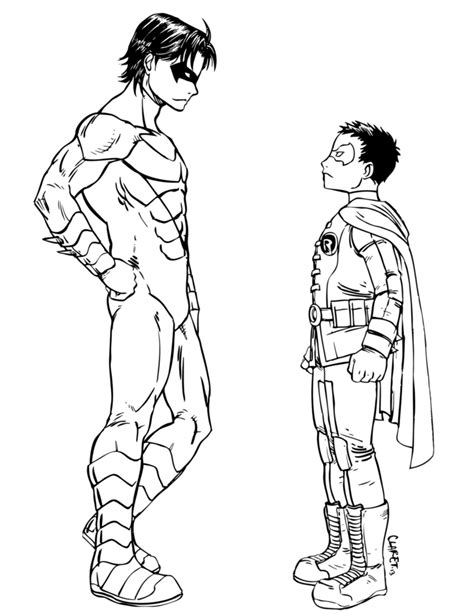 robin superhero coloring page nightwing coloring pages bestofcoloring com