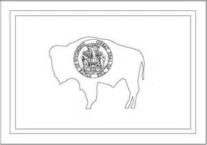wyoming outline flag