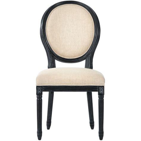 Antique Black Dining Chairs Home Decorators Collection Jacques Antique Black Linen Dining Chair Set Of 2