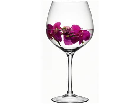 wine glass clear handmade glass midi collection h39cm