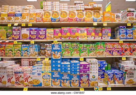 Supermarket Box breakfast cereal aisle stock photos breakfast cereal aisle stock images alamy