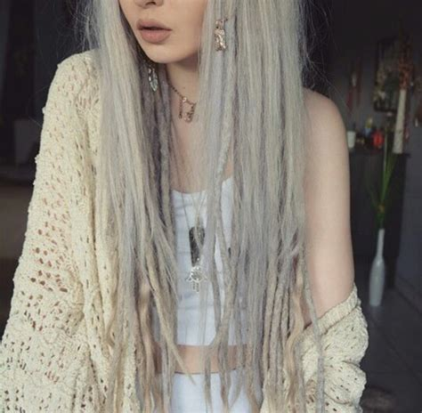 dreadlocks with gray hair silver dreadlocks tumblr