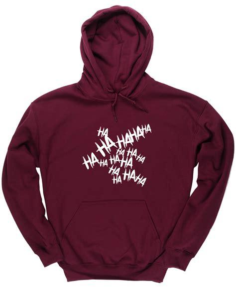 Hoodie Joker Hahaha Zemba Clothing joker laugh hahaha unisex hoodie hooded top ebay