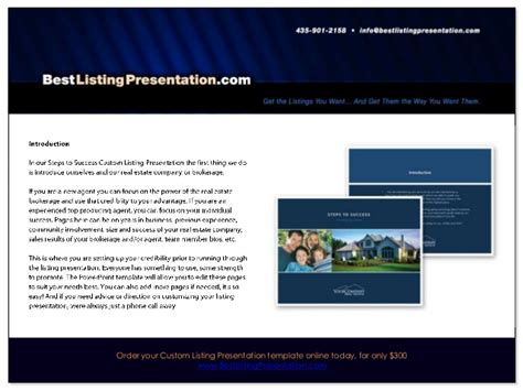 Best Real Estate Listing Presentation For Ipad Real Estate Marketing Presentation Template