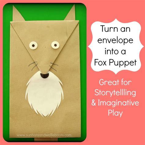 How To Make A Paper Fox Puppet - sun hats wellie boots envelope puppets fox reindeer