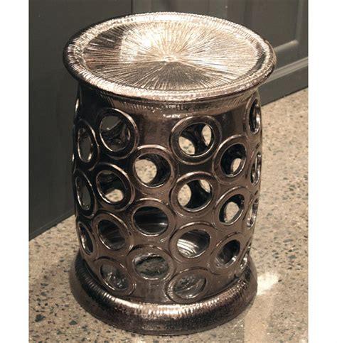 karwan global bazaar bronze ceramic garden stool kathy