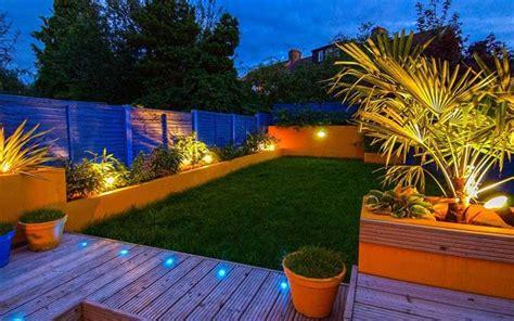 garden lighting turn  garden   nighttime