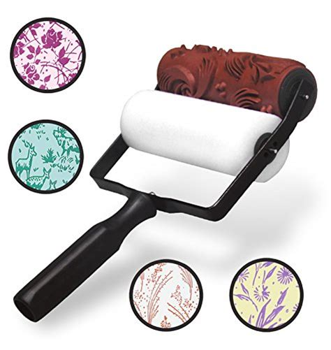 pattern paint roller manufacturers picassi patterned paint roller kit 19 designs for creating