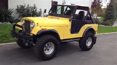 1980 jeep cj5 4x4 lifted inline 6 6 speed clean