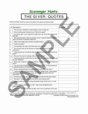 Quotes From The Giver And Page Numbers