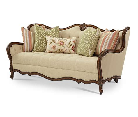 michael amini sofas michael amini lavelle melange luxury wood trim sofa set by