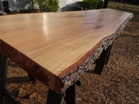 live edge cherry solid hardwood wood slab natural table top