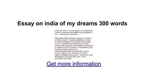 India Of My Dreams Essay by Essay On India Of My Dreams 300 Words Docs