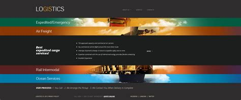 website templates for logistics company transportation website template 41562