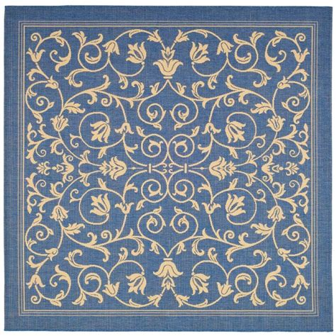 safavieh cy2965 3103 courtyard indoor outdoor area rug blue lowe s canada safavieh courtyard blue 6 ft 7 in x 6 ft 7 in indoor outdoor square area rug cy2965