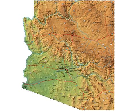 arizona elevation map arizona elevation map pictures to pin on pinsdaddy