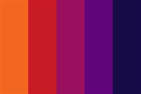 sunset color palette sunset color palette