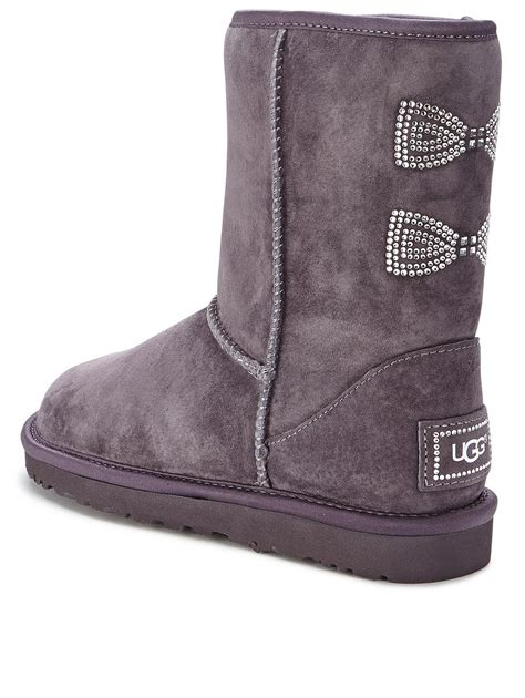 Boots Dg 47 by Gray Uggs With Bows On The Back