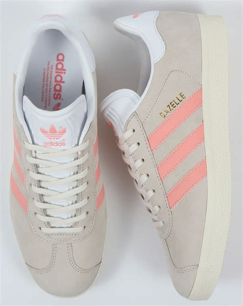 adidas gazelle trainers chalk white light pink originals shoes womens sneaker