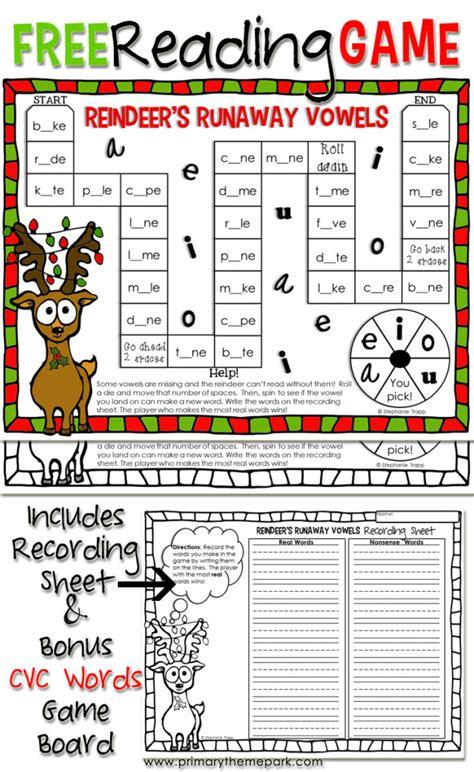 printable christmas phonics games christmas reading game printable primary theme park