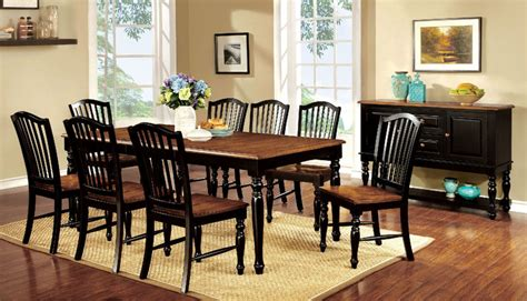 Homelegance Britanica Black Country Style Dallas Designer Furniture Counter Height Dining Room Set