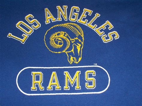 vintage los angeles rams t shirt vintage los angeles rams 80s chion t shirt m soft