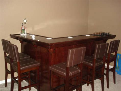 Used Bar Tops For Sale by Mahogany Finish L Shaped Bar W Built In Kegerator Home