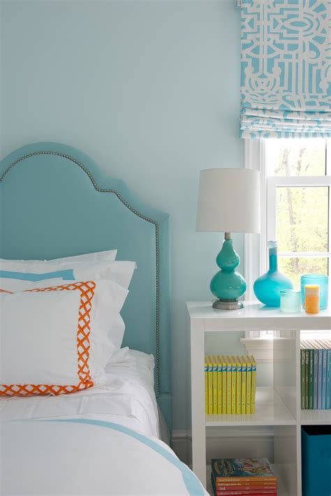 orange and light blue bedroom morgan harrison home house of turquoise