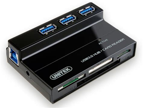 review unitek 3 port usb 3 0 hub with card reader