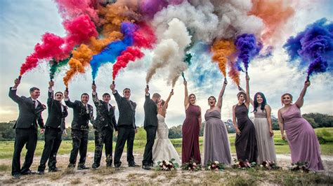 colored smoke bombs for sale colored smoke wedding portrait